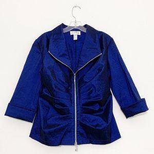 Joseph Ribkoff Blazer Jacket Satin Long Sleeve